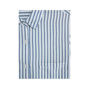 mango striped beach shirt