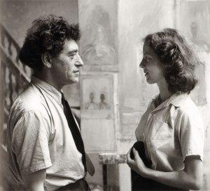 alberto-and-annette-giacometti-alexander-liberman-1950