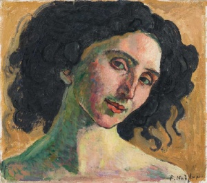 ferdinand hodler portrait-of-giulia-leonardi-1910