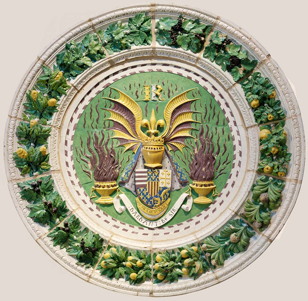 stemma of rene, king of anjou, lucia della robbia, 1466-78 (V&A).jpg