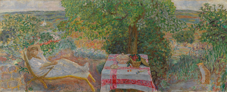bonnard resting in the garden.jpg