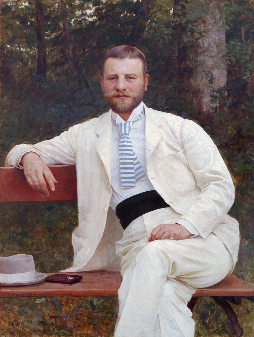 Gustav Pongratz, by Vlaho Bukovac